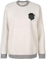 Julien David shield print sweatshirt