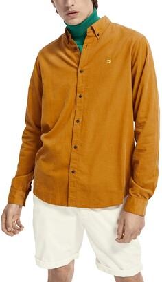 Scotch & Soda Regular Fit Corduroy Button-Down Shirt