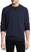 Vince Cashmere-Blend Birdseye-Knit Sweater