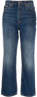 Ganni High-Waisted Straight-Leg Jeans
