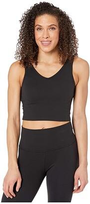 Beyond Yoga Back Me Up Cropped Tank (Jet Black) Women's Clothing