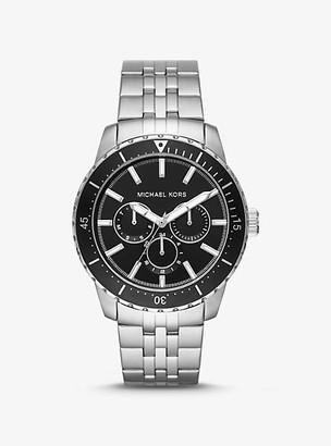 Michael Kors Oversized Cunningham Silver-Tone Watch