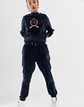 Tommy Jeans capsule crest logo velvet jogger