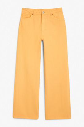 Monki Yoko yellow jeans