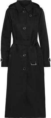 DKNY Shell Hooded Trench Coat