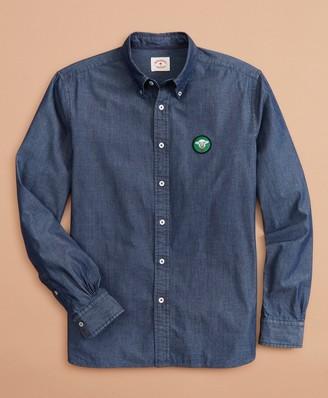 Brooks Brothers Indigo Chambray Patch Shirt