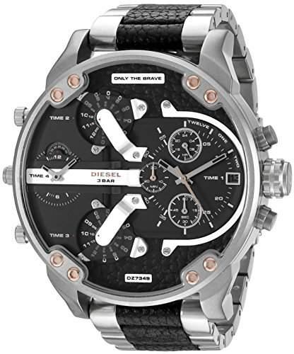 Diesel Men's DZ7349 Mr Daddy 2.0 Analog Display Analog Quartz Silver Watch