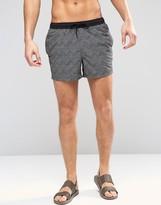 Asos Swim Shorts With Geo Print In Short Length