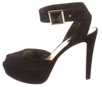 Louis Vuitton Peep-Toe Platform Sandals
