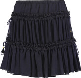 See by Chloe Gathered chiffon mini skirt