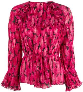 Kenzo printed ruffle blouse