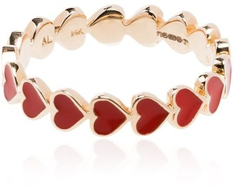 Alison Lou 14kt Gold And Red Heart Ring