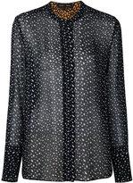 Proenza Schouler long sleeve printed shirt - women - Silk - 2
