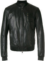 Dolce & Gabbana leather bomber jacket - men - Lamb Skin/Polyamide/Polyester - 50