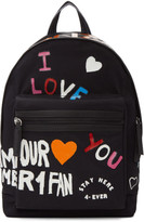 Kenzo Black Limited Edition 'I Love You' Backpack