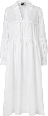Just Female Brandy White Cotton Dress - Small
