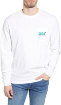 Vineyard Vines Palm Whale Long Sleeve Pocket Graphic Tee