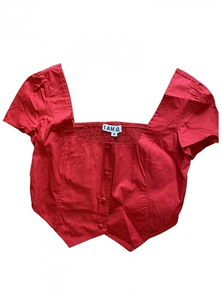 I.AM.GIA Red Cotton Tops