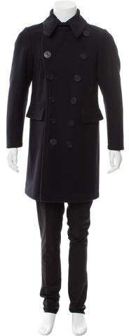DSQUARED2 Double-Breasted Virgin Wool Peacoat