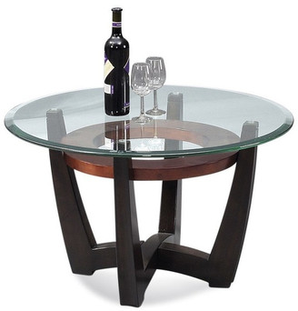 Bassett Mirror Elation Round Cocktail Table, Copper Ring