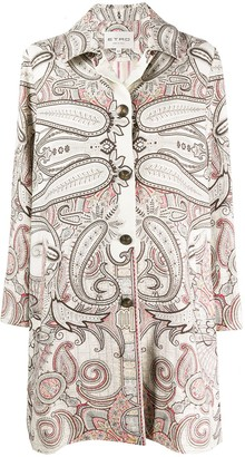 Etro Paisley-Print Single-Breasted Coat