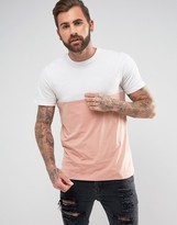 New Look New Look Colour Block T-shirt In Pink