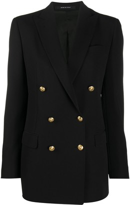 Tagliatore Long Sleeve Double Breasted Jacket