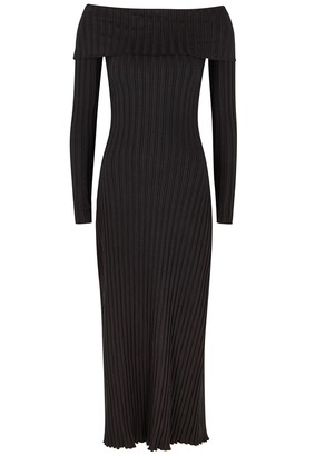 Simon Miller Espen Off-the-shoulder Jersey Midi Dress