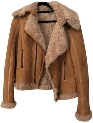 Alexander McQueen Camel Shearling Jackets