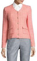 Karl Lagerfeld Paris Tweed Flap Pocket Jacket