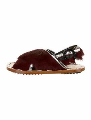 Marni Ponyhair Slingback Sandals w/ Tags silver