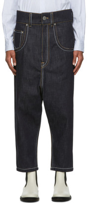 Lanvin Navy Low Crotch Jeans