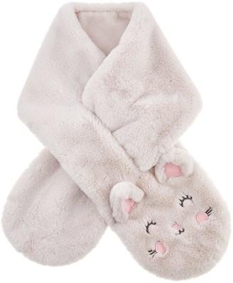 Accessorize Girls Fluffy Cat Scarf - Multi