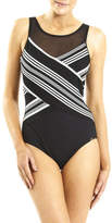 Jantzen Seacrest Cross Front High Neck One Piece