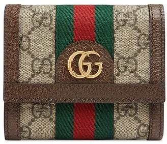 Gucci beige Ophidia GG wallet