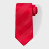 Paul Smith Men's Red Textured Stripe Silk Tie