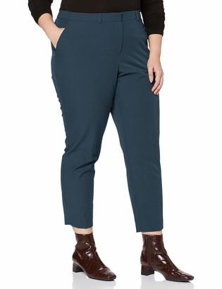 Dorothy Perkins Curve Women's Petrol Elastic Back Ankle Grazer Trousers