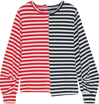 Clu Paneled Striped Cotton-jersey Top