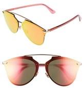 Christian Dior Women's Reflected Prism 63Mm Oversize Mirrored Sunglasses - Dark Ruthenium/ Green