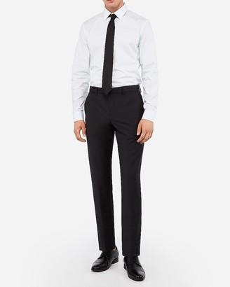 Express Slim Black Wool-Blend Performance Stretch Suit Pant