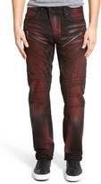 PRPS 'Barracuda' Straight Leg Moto Jeans (Red Panda)