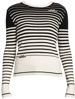Valentino Cashmere & Wool Stripe Knit Sweater