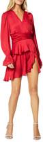 Ramy Brook Roman Long-Sleeve Tiered Flounce Dress