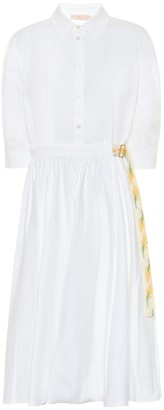 Tory Burch Cotton poplin midi dress