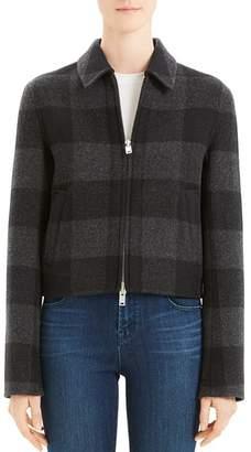 Theory Wool Buffalo Plaid Zip Jacket - 100% Exclusive