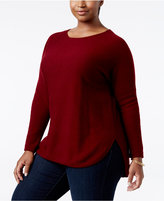 Charter Club Plus Size Cashmere Shirttail Sweater, Only at Macy's