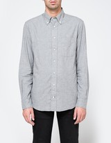 Gitman Brothers Flannel Button Down in Grey