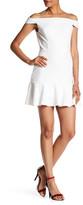 ABS by Allen Schwartz Off-the-Shoulder Flounce Bottom Dress