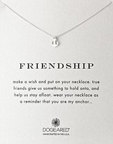 "Dogeared Reminder"" Friendship Anchor Silver Chain Necklace, 16"""