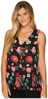 Vince Camuto Sleeveless Floral Heirlooms Drape Front Blouse Women's Blouse